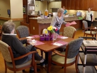 Residents preparing for lunch