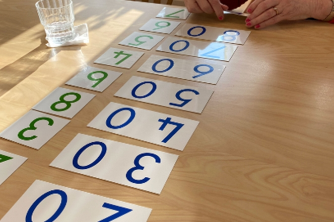 Montessori maths cards